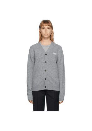 Acne Studios Grey V-Neck Patch Cardigan
