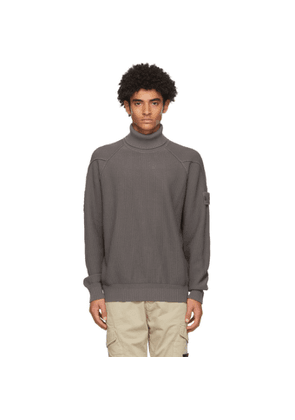 Stone Island Grey Raglan Roll Turtleneck