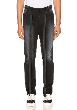 Fear of God Canvas Slim Pant in Black - Black. Size 29 (also in 30,31).