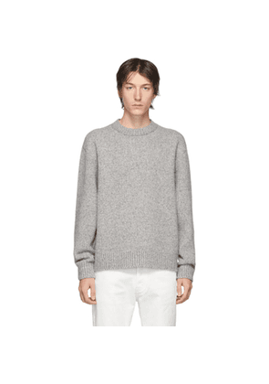 Acne Studios Grey Wool Cashmere Crewneck Sweater