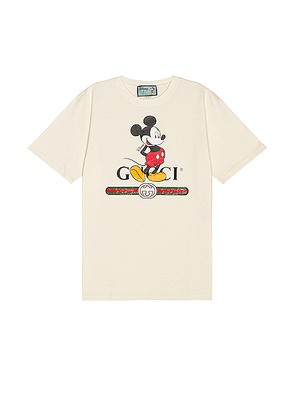 Gucci Mickey Tee in Sunkissed & MC - White. Size XL (also in ).