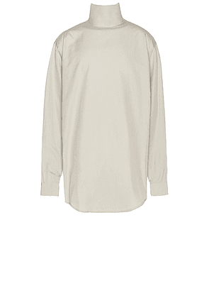 Fear of God Exclusively for Ermenegildo Zegna Oversized Shirt in London Fog - Neutral,White. Size XL (also in XS).