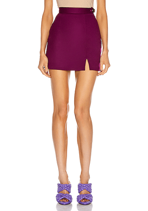 ATTICO Mini Skirt in Purple - Purple. Size 42 (also in ).