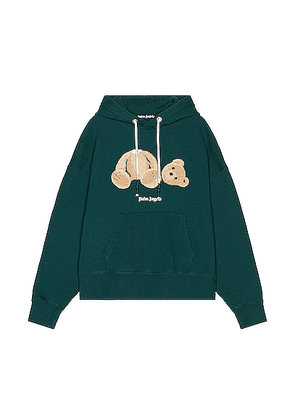 Palm Angels Bear Hoodie in Forest Green Brow - Green. Size M (also in ).