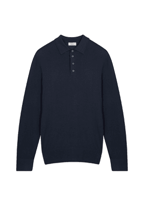 Midnight Blue Knit Polo