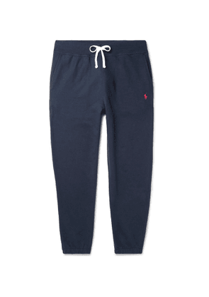 Polo Ralph Lauren - Tapered Logo-Embroidered Cotton-Blend Jersey Sweatpants - Men - Blue