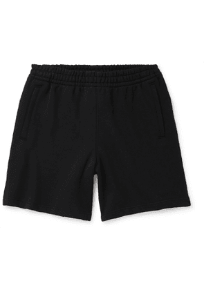 adidas Consortium - Pharrell Williams Embroidered French Cotton-Terry Shorts - Men - Black