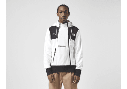 The North Face Steep Tech Zip Hoodie, White/Black