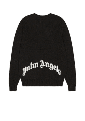 Palm Angels Rec Logo Sweater in Black. Size M.