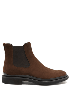 Tod's - Rubber-sole Suede Chelsea Boots - Mens - Brown