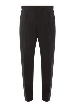 Umit Benan B+ - Side-stripe Wool-blend Trousers - Mens - Black