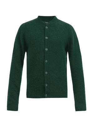 Howlin' - Four Eyes Brushed-wool Cardigan - Mens - Green