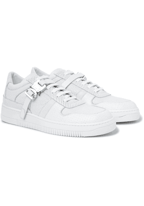 1017 ALYX 9SM - Buckled Perforated-Leather Sneakers - Men - White