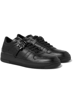 1017 ALYX 9SM - Buckled Perforated-Leather Sneakers - Men - Black