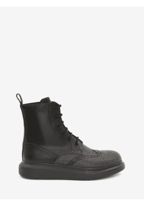 ALEXANDER MCQUEEN Hybrid Lace-Up Boot - Item 645911WHFLA1081