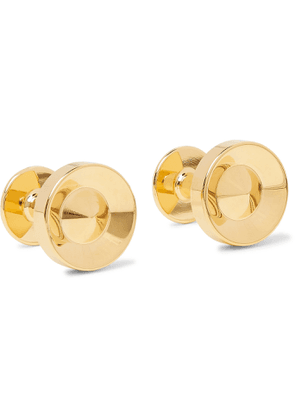 Alice Made This - Alvar Gold-Plated Cufflinks - Men - Gold