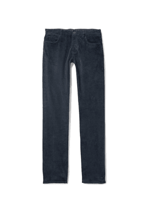 Canali - Slim-Fit Stretch Cotton and Modal-Blend Corduroy Trousers - Men - Blue