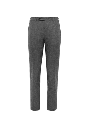 Canali - Wool-Flannel Suit Trousers - Men - Gray