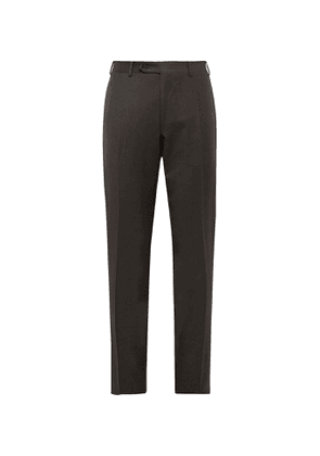 Canali - Super 120s Wool-Flannel Trousers - Men - Brown