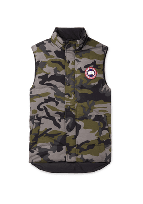Canada Goose - Garson Slim-Fit Camouflage Quilted Shell Down Gilet - Men - Gray