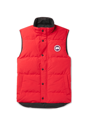 Canada Goose - Garson Slim-Fit Quilted Shell Down Gilet - Men - Red