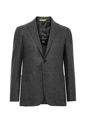 Canali - Kei Slim-Fit Unstructured Wool-Flannel Suit Jacket - Men - Gray