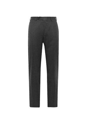 Canali - Super 120s Wool-Flannel Trousers - Men - Gray