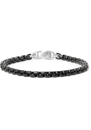 David Yurman - Blackened Sterling Silver Chain Bracelet - Men - Metallic