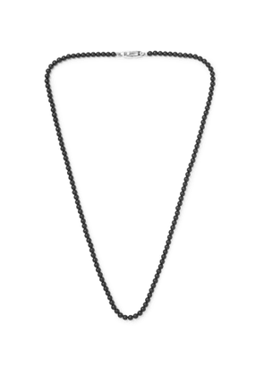 DAVID YURMAN - Onyx and Sterling Silver Beaded Necklace - Men - Black