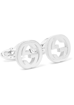 GUCCI - GG Sterling Silver Cufflinks - Men - Silver