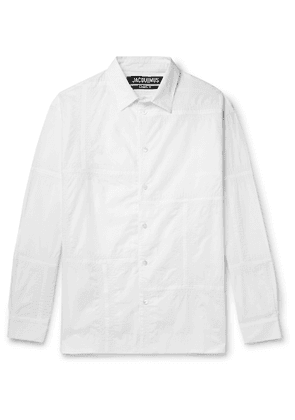 Jacquemus - Patchwork Embroidered Cotton Shirt - Men - White