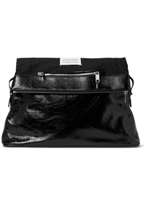 Maison Margiela - Textured-Leather and Twill Tote Bag - Men - Black