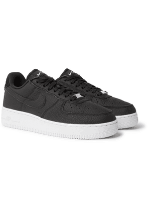 Nike - Air Force 1 07 Suede-Trimmed Leather Sneakers - Men - Black