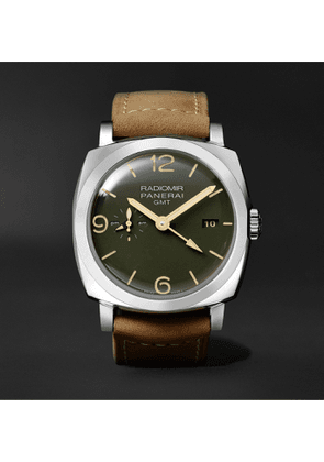 Panerai - Radiomir GMT Automatic 45mm Stainless Steel and Leather Watch, Ref. No. PAM00998 - Men - Green