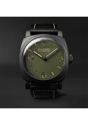 Panerai - Radiomir Hand-Wound 48mm Ceramic and Leather Watch, Ref. No. PAM00997 - Men - Green