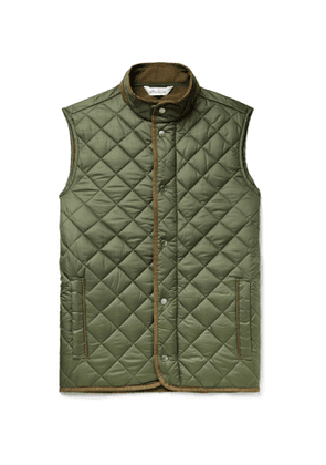 Peter Millar - Essex Microfibre-Trimmed Quilted Shell Gilet - Men - Green