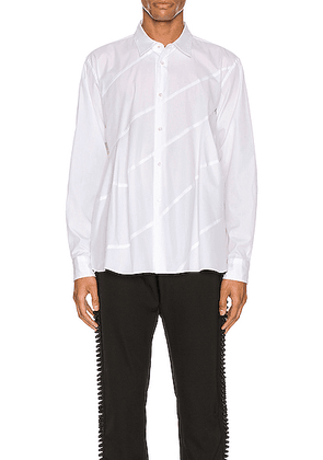 Comme Des Garcons Homme Plus Long Sleeve Shirt in White - White. Size XS (also in ).