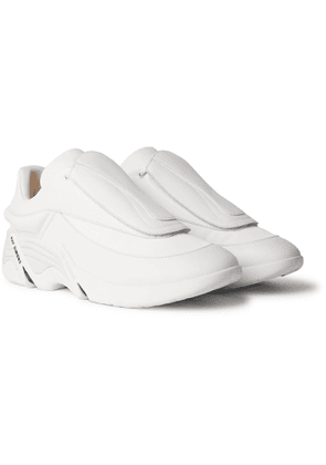 Raf Simons - Antei Rubber-Trimmed Leather Sneakers - Men - White