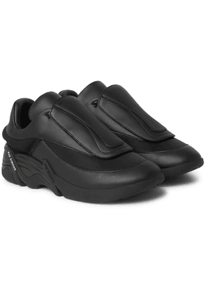 Raf Simons - Antei Rubber-Trimmed Leather Sneakers - Men - Black