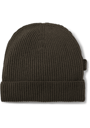 TOM FORD - Ribbed Cashmere Beanie - Men - Green
