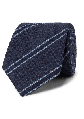 Turnbull & Asser - 8cm Striped Silk-Jacquard Tie - Men - Blue