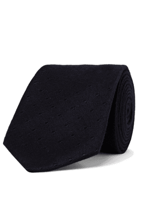 Turnbull & Asser - 8cm Polka-Dot Silk and Cashmere-Blend Jacquard Tie - Men - Blue