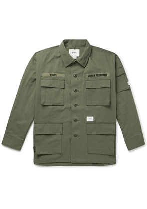 WTAPS - Jungle Embroidered CORDURA and Cotton-Blend Ripstop Overshirt - Men - Green
