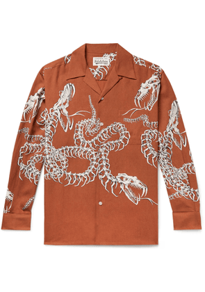 Wacko Maria - Camp-Collar Printed Lyocell Shirt - Men - Red