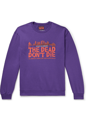 Wacko Maria - The Dead Don't Die Printed Fleece-Back Cotton-Blend Jersey Sweatshirt - Men - Purple