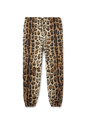Wacko Maria - Tapered Leopard-Print Shell Track Pants - Men - Animal print