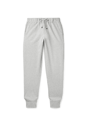 Zimmerli - Tapered Fleece-Back Stretch-Cotton Sweatpants - Men - Gray