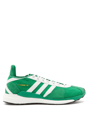 Adidas X Human Made - Tokio Solar Mesh And Leather Trainers - Mens - Green White