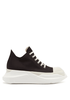 Rick Owens Drkshdw - Abstract Exaggerated-sole Canvas Trainers - Mens - Black White