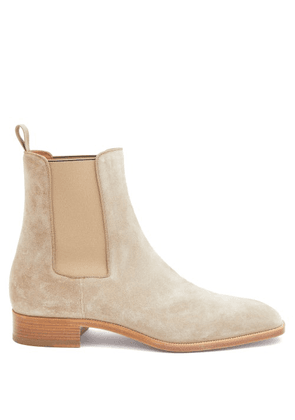Christian Louboutin - Samson Orlato Suede Chelsea Boots - Mens - Beige